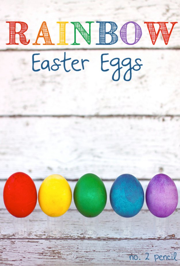 Rainbow Easter Eggs The Easy Way