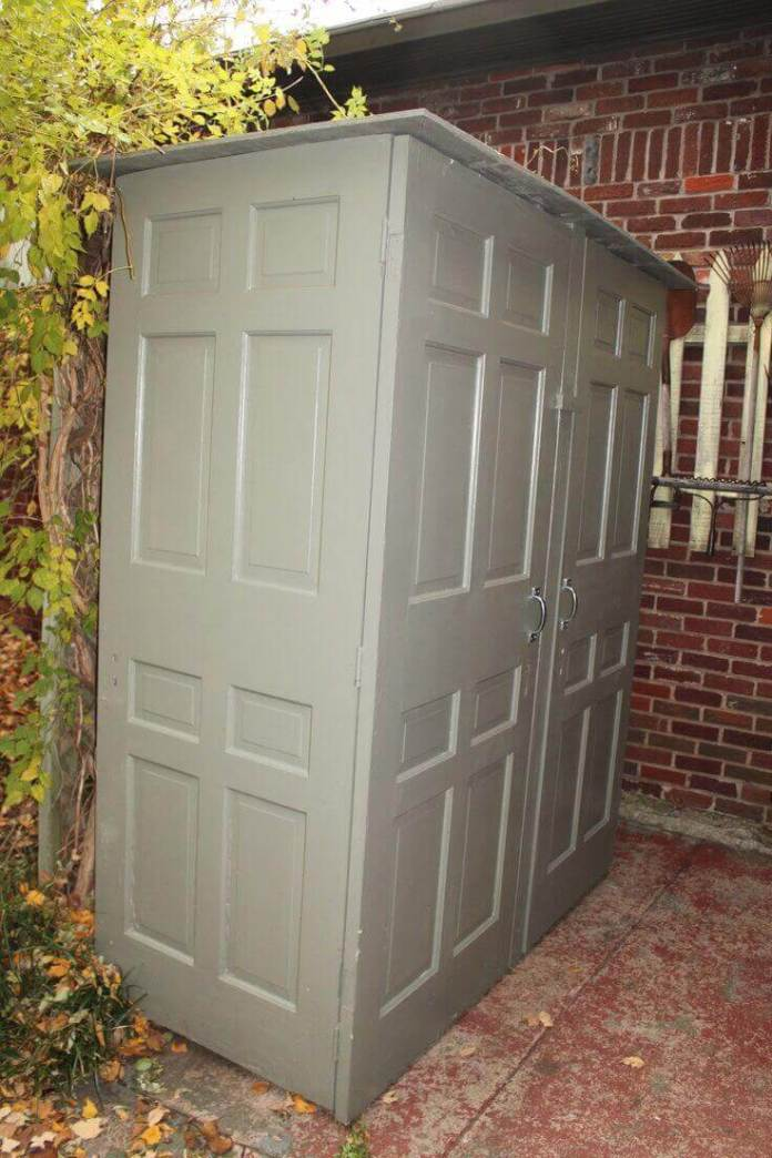 A Storage Shed Made from Recycled Doors