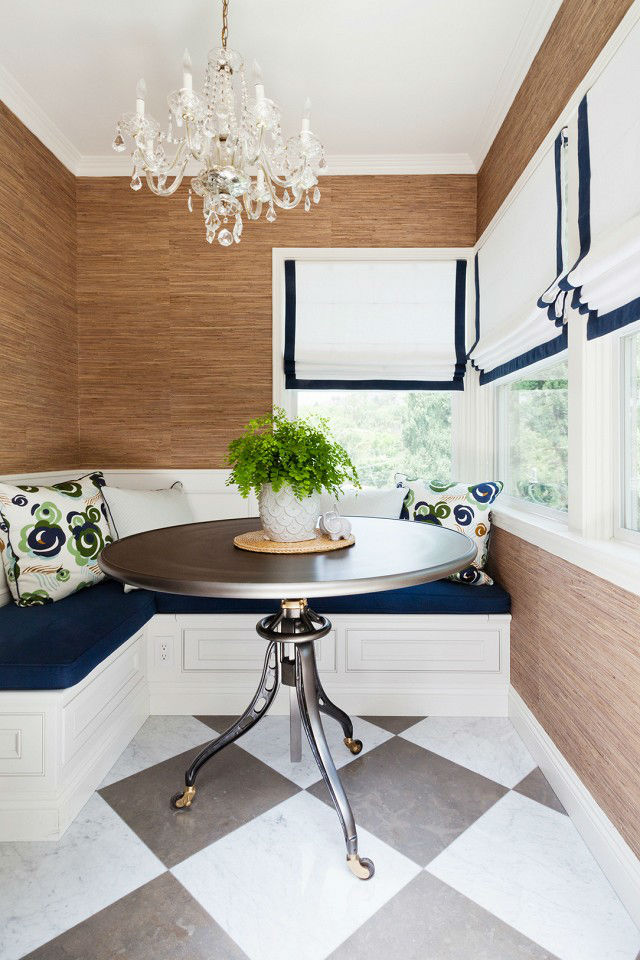 Not-So-Nautical Breakfast Nook Idea