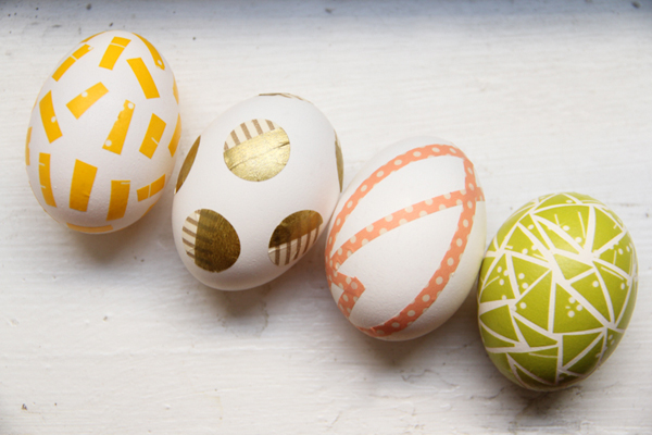 Diy washi tape easter eggs