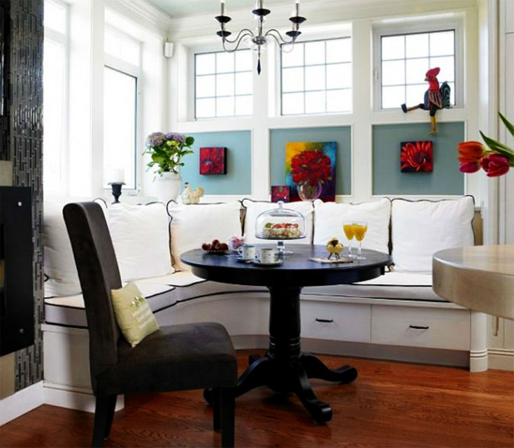 Elegant, Yet Fun Breakfast Nook Idea