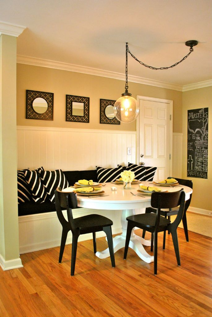 Modern Swag Breakfast Nook Idea