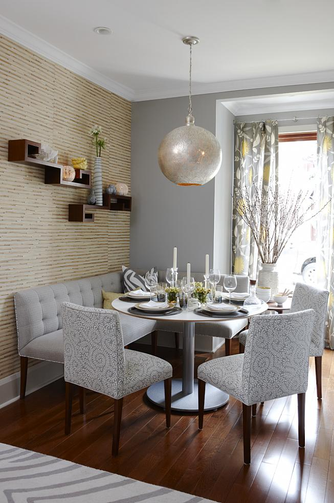 Silver Sensation Breakfast Nook Idea