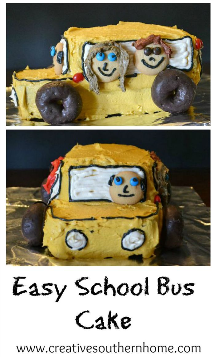 Easy School Bus Cake