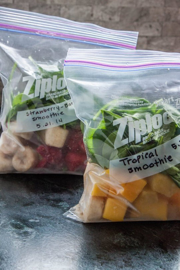 Make Freeze Ahead Smoothies