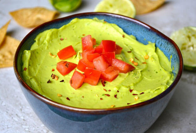 Goat Cheese Guacomole Dip