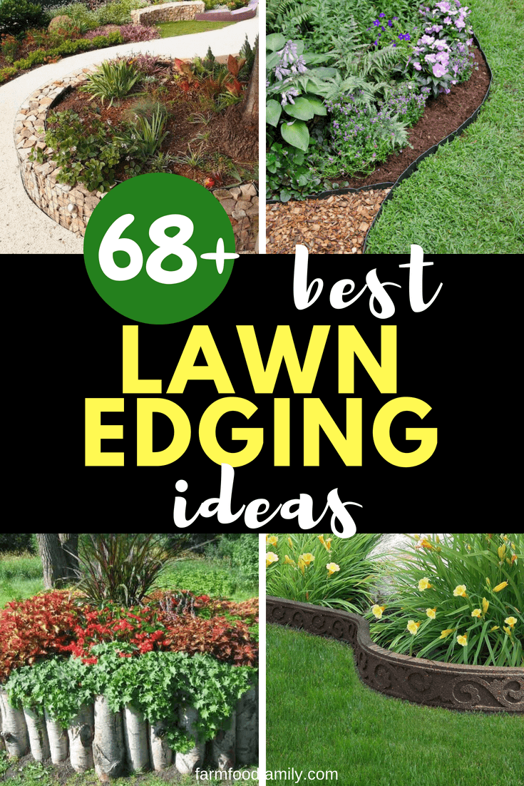 Take a look at these 68+ beautiful lawn edging ideas that will transform your garden #gardenideas #backyard #landscaping #farmfoodfamily