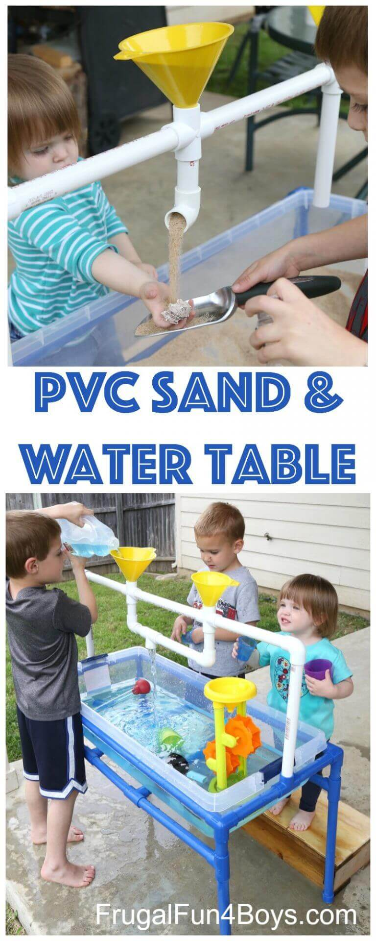 Dual Use Sensory Play Table for Sand and Water