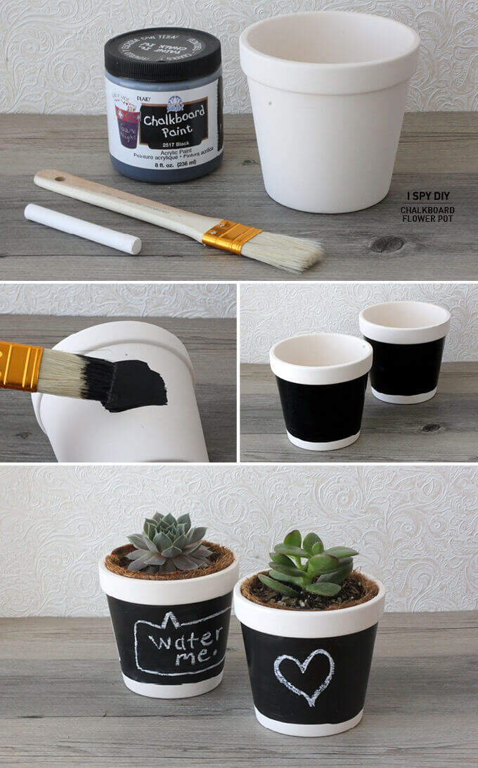 Help Your Succulents Talk with Chalkboard Paint