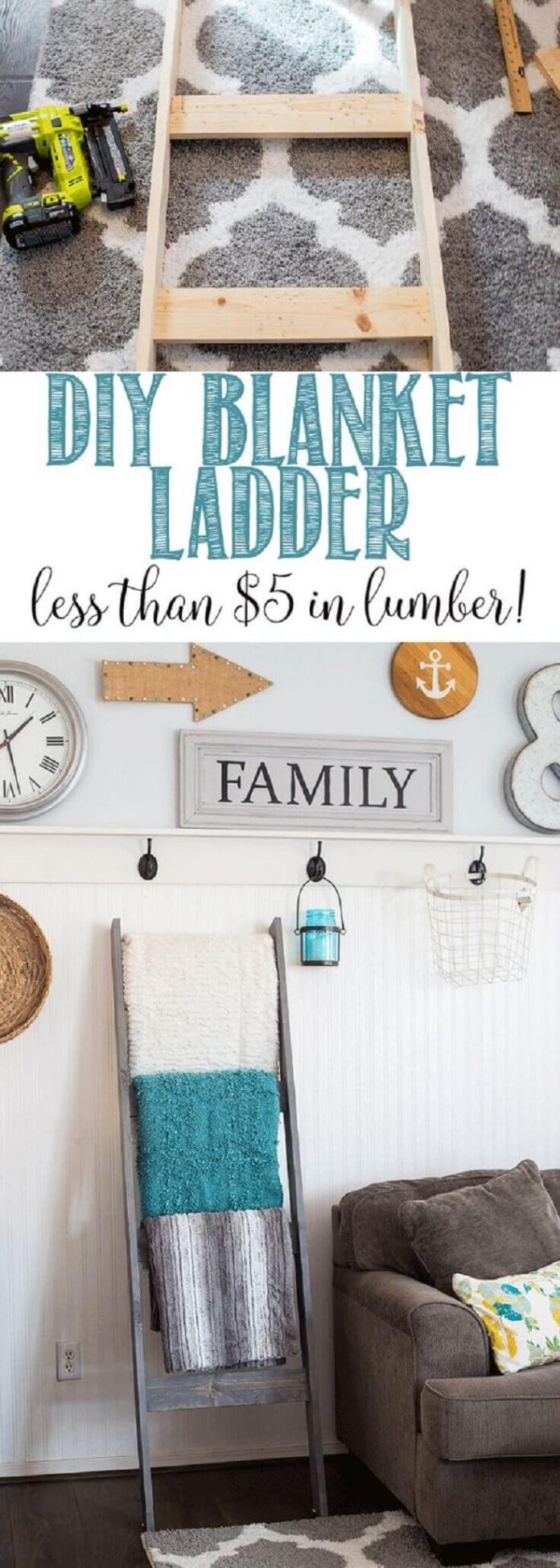 Fast and Easy Blanket Ladder
