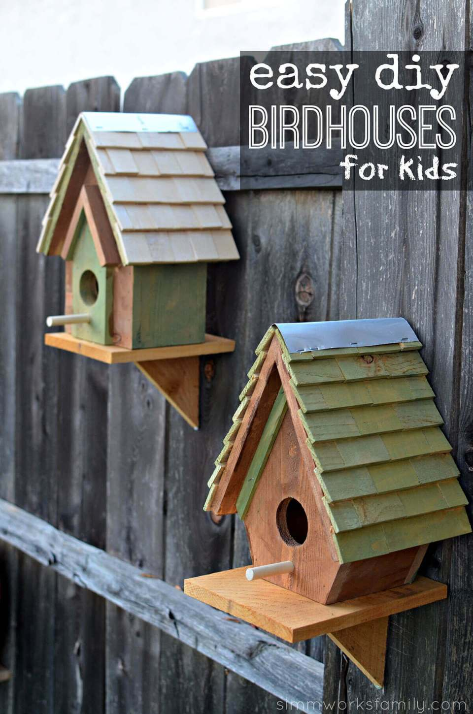Adorable Birdhouses Hung on the Fence