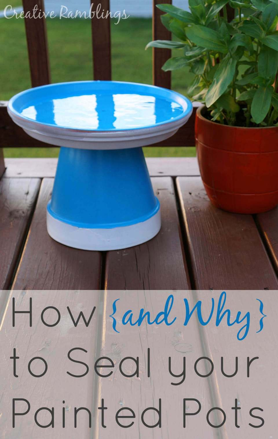 Easy DIY Bird Bath with Turned Over Pots