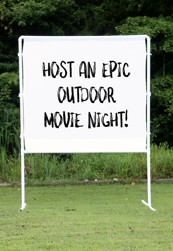 DIY Outdoor Projection Screen for Movie Nights
