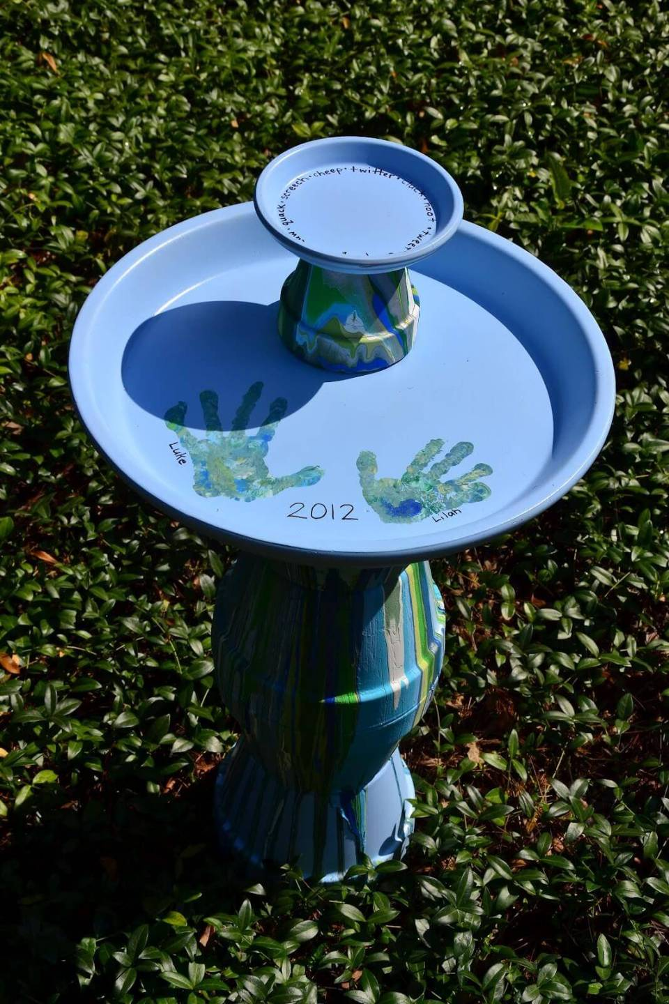 Adorable Hand Painted Child's Bird Bath