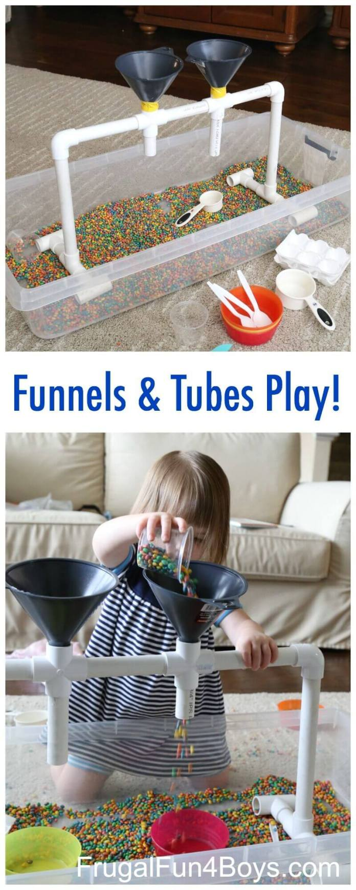 Pour-and-Play Tube and Funnel Setup