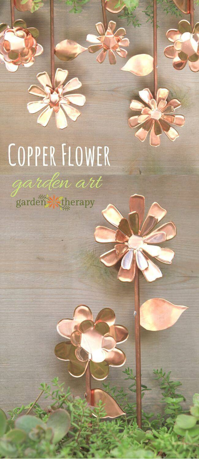 Garden Art DIY Project Idea with Copper