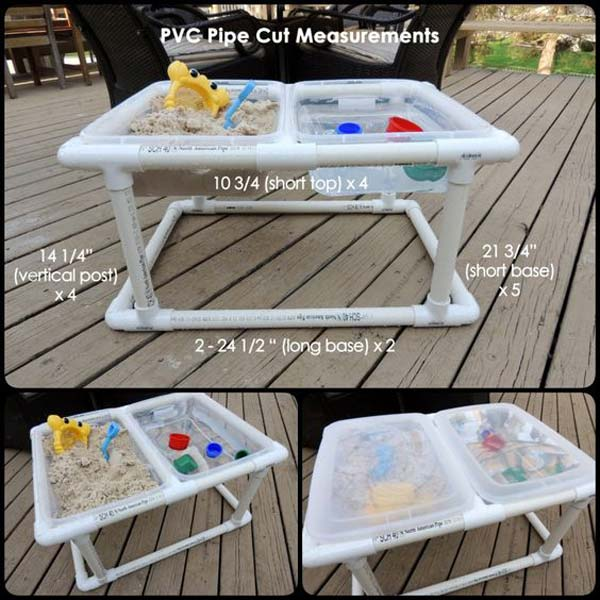 This sand and water table is prettier than a store-bought version