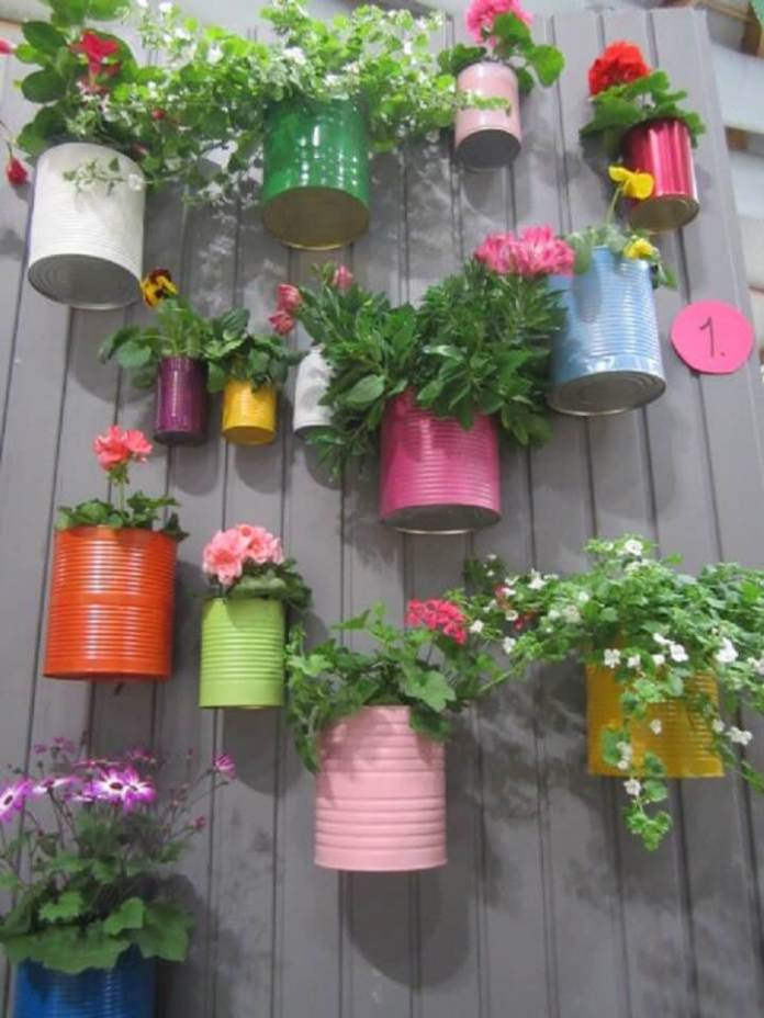 Creating a Vertical Garden With Recyclables