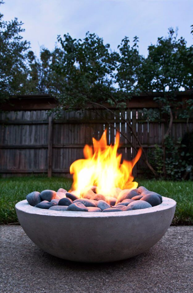 How To Make A DIY Modern Fire PIt From Scratch