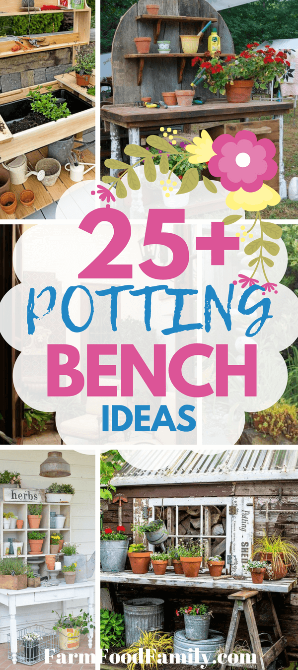 In the past, a potting bench was little more than a simple, narrow table pushed off to one side of your home, garage, or porch. While a table is still the ideal surface for potting, avid gardeners are finding lots of fun new ways to add some personality to these utilitarian tables. Repurposed furniture, bright finishes, and whimsical accessories are just a few ways you can make your potting bench feel fresh.