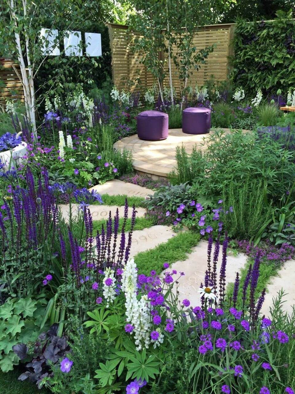 Simple Stone Pathway Sets Off Beautiful Plants