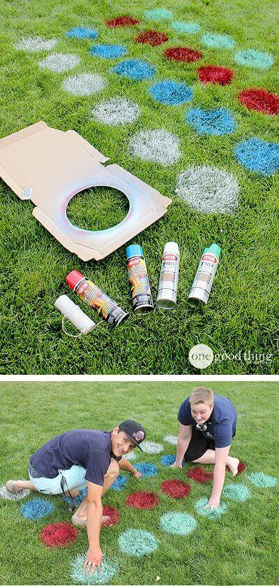 Simple Outdoor Spray Paint Twister