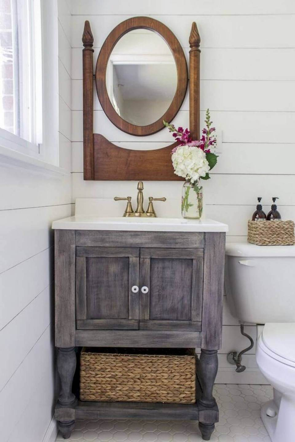 31+ Impressive DIY Rustic Farmhouse Bathroom Vanity Ideas