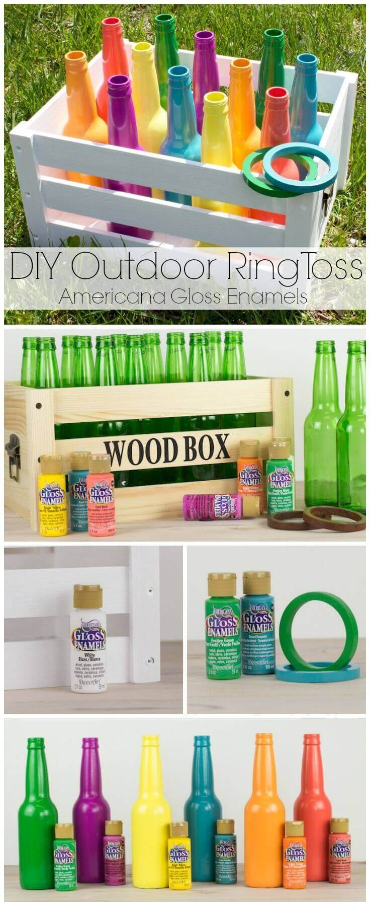 Ring Toss DIY Backyard Game Idea