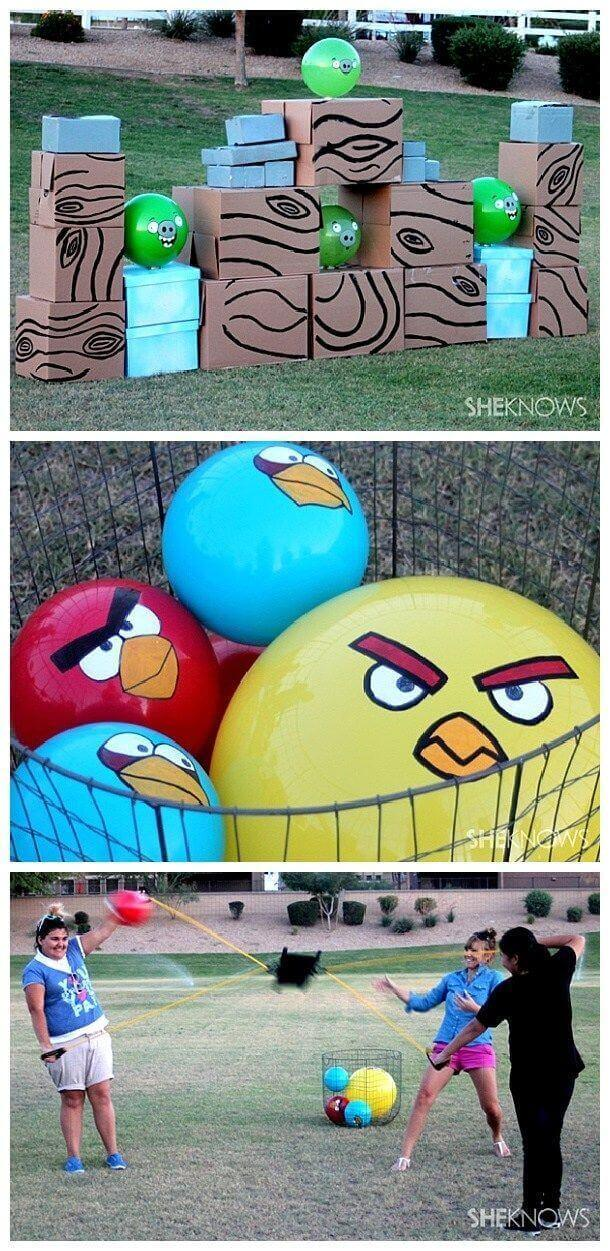 Outdoor Angry Birds Lawn Game