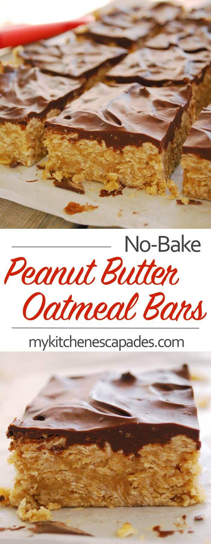 NO-BAKE PEANUT BUTTER OATMEAL BARS