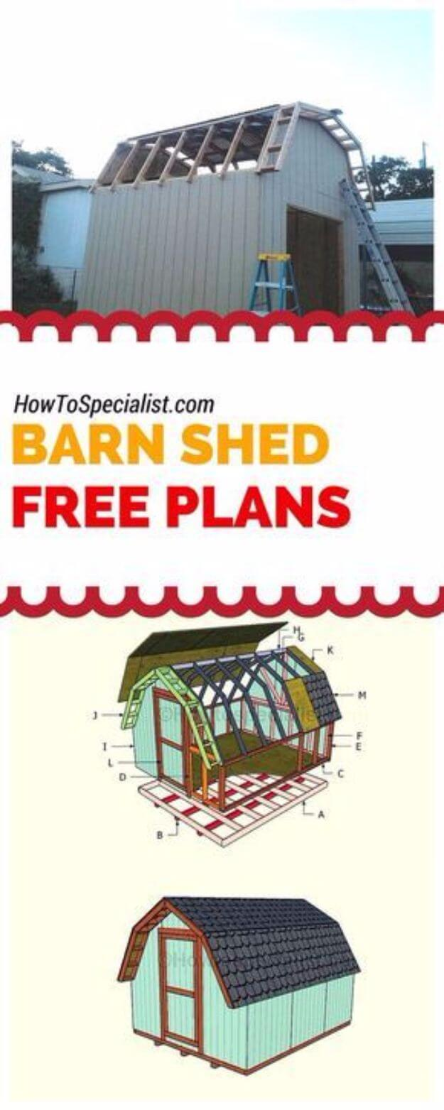 10×16 Barn Shed Plans