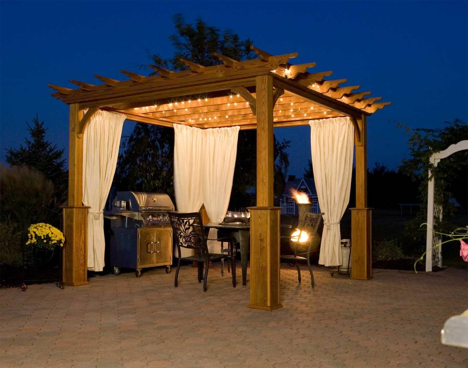 DIY Pergola Ideas: Tahitian Nightfall Freestanding Pergola