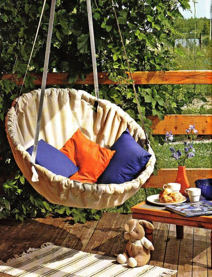 DIY Outdoor Furniture Projects: Summer Splendor Basket Swing