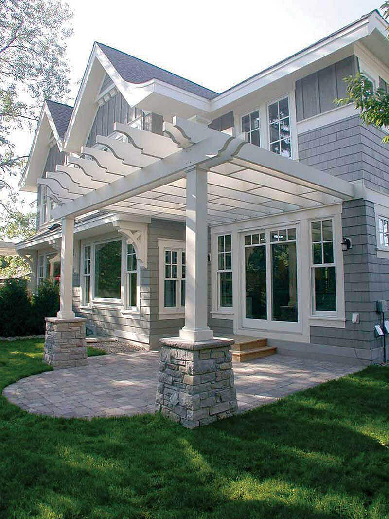 DIY Pergola Ideas: Summer At The Hamptons Patio Pergola