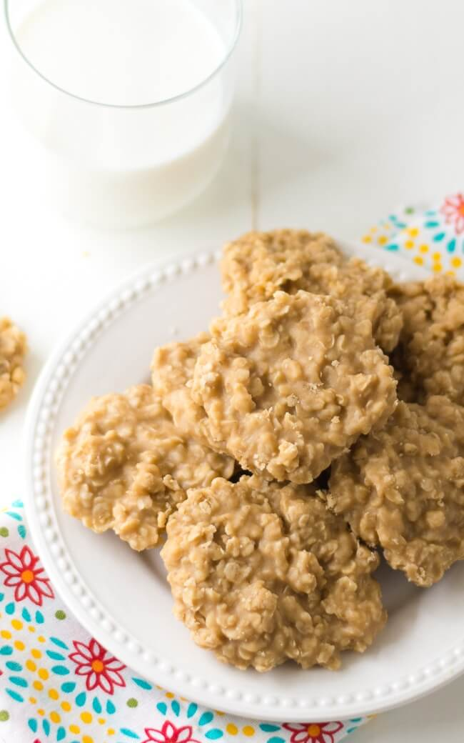 Peanut Butter No Bake Cookies from dearcrissy