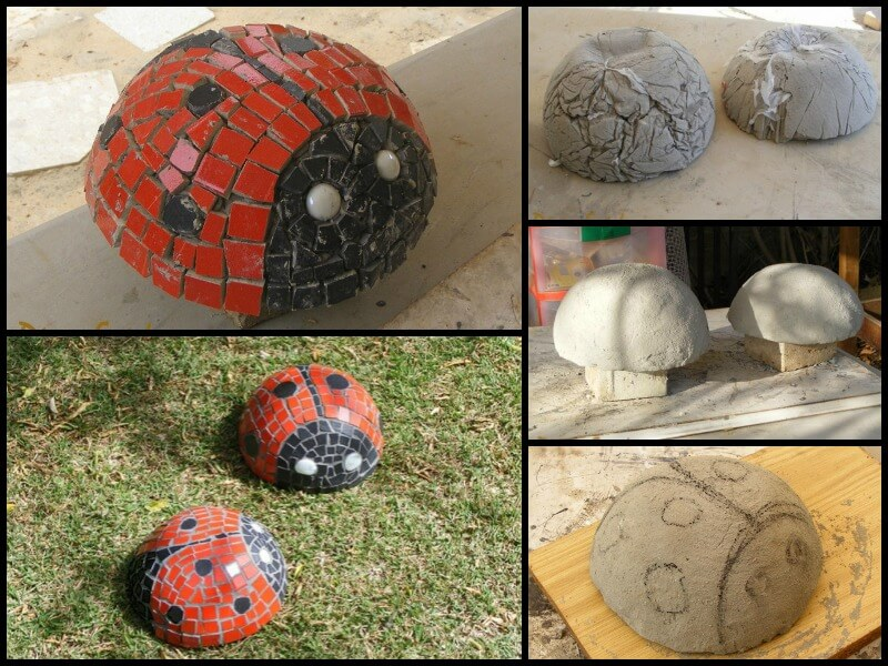 Cute Mosaic Ladybug Garden Decorations