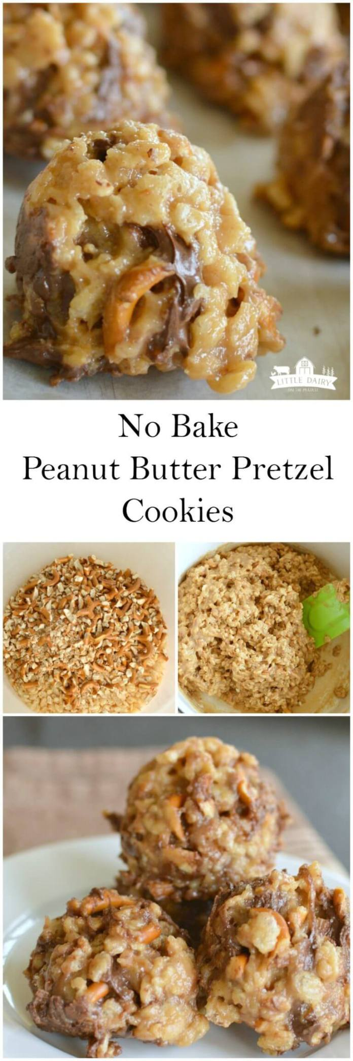No Bake Peanut Butter Pretzel Cookies – Perfect for the Holidays