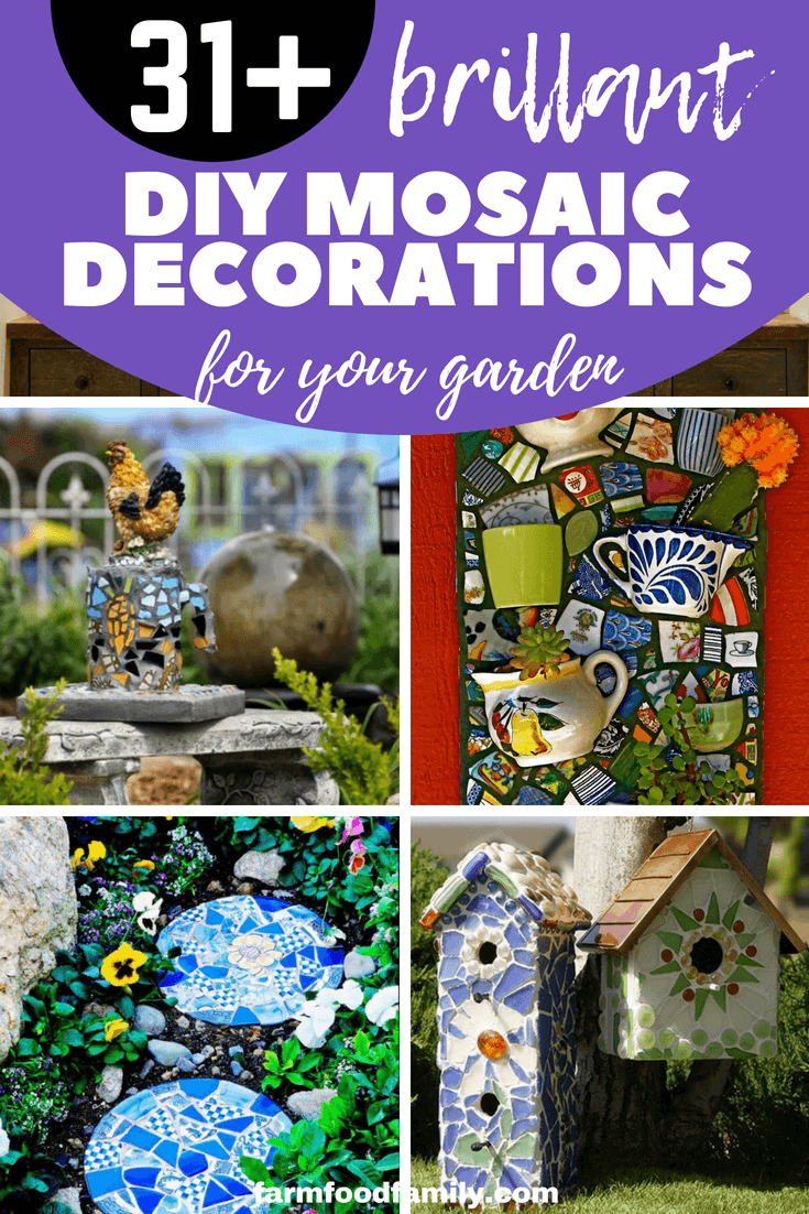 Mosaics are a creative way to bring color and style to your home. Only with a little creativity and material available are you able to highlight your garden. Here are these 31 creative DIY garden mosaic ideas and find your choices.