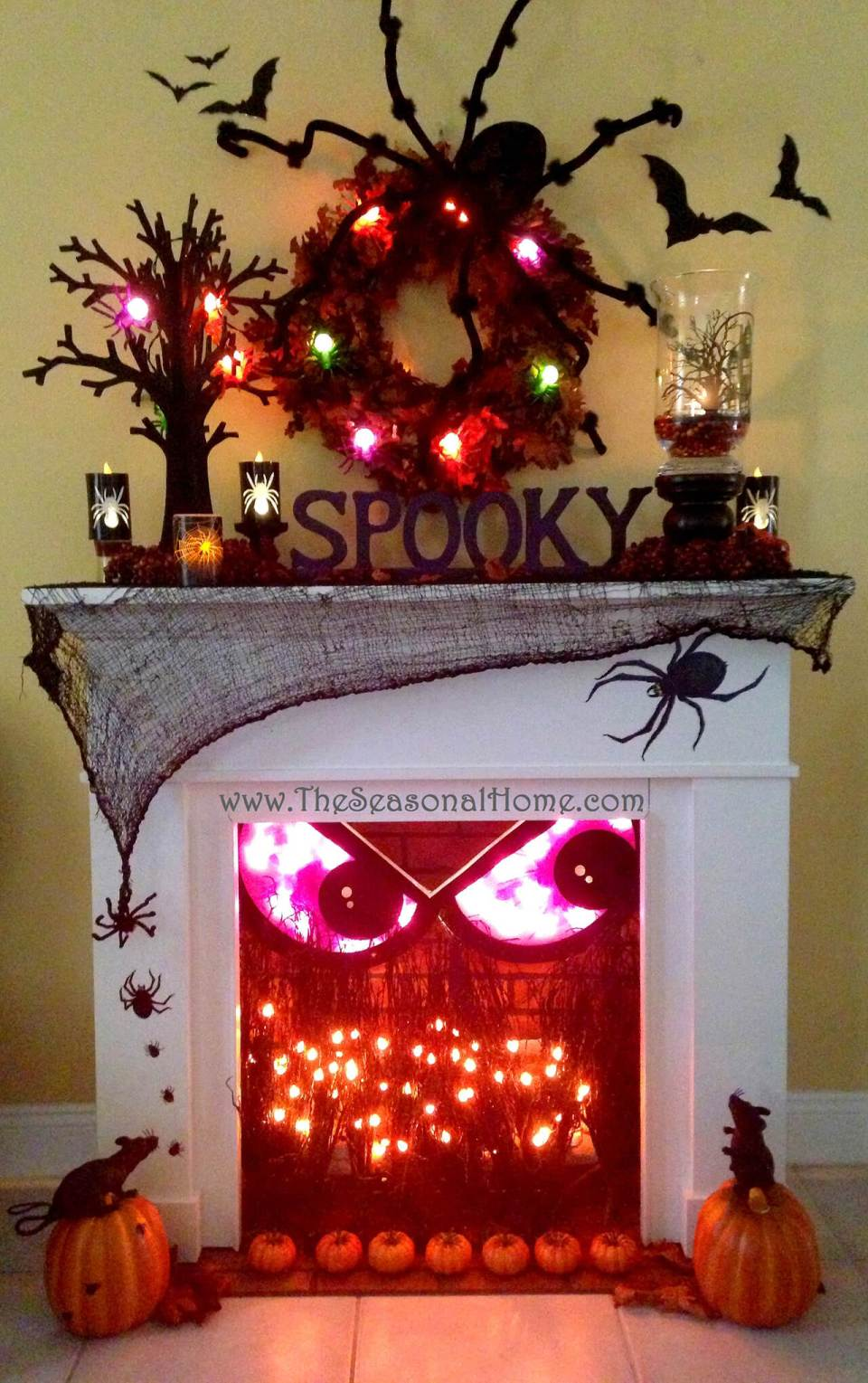Spooky Fireplace Crackles with Fun | DIY Indoor Halloween Decorating Ideas