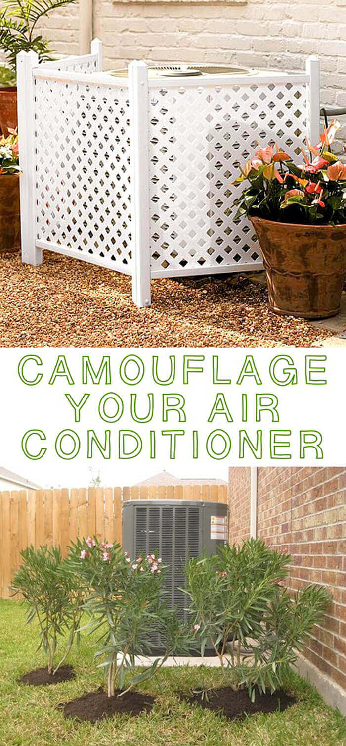 Plants or Trellis for Hiding Air Conditioning Units | Outdoor Eyesore Hiding Ideas