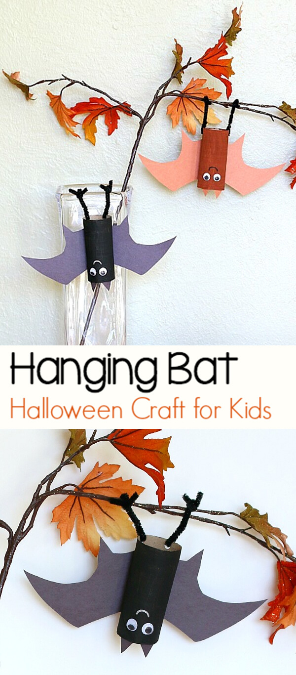 Toilet-paper Tube Hanging Bats | Fun & Creative DIY Halloween Crafts for Kids