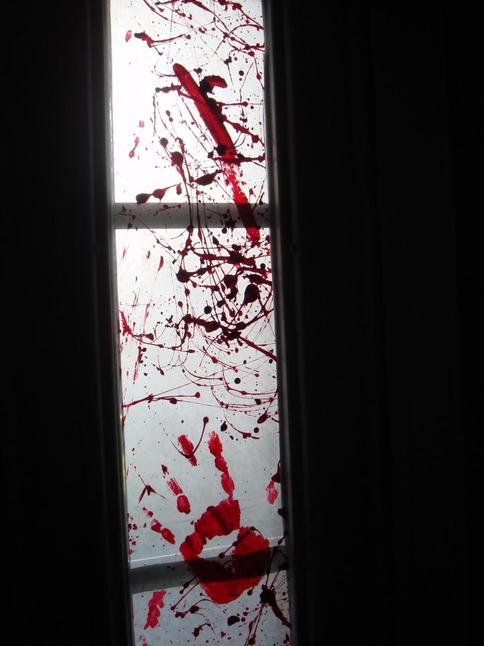 Blood Splatter Galore | DIY Halloween Window Decoration Ideas