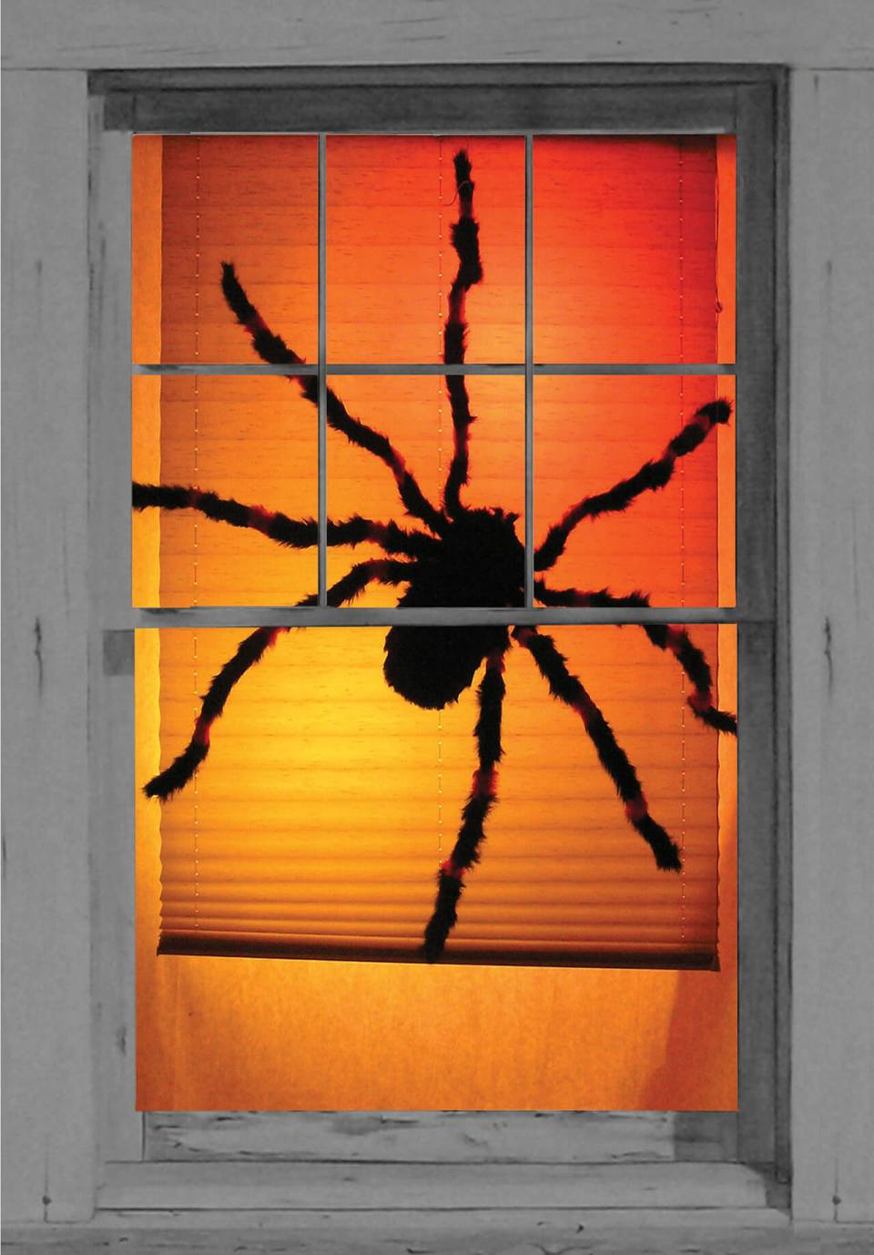 Tarantula Terror Halloween Window Decoration | DIY Halloween Window Decoration Ideas