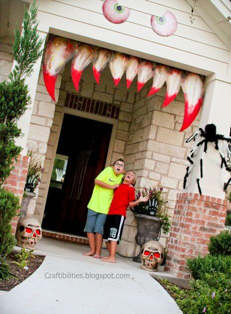 Halloween Front Door Decoration Ideas: Eaten Alive