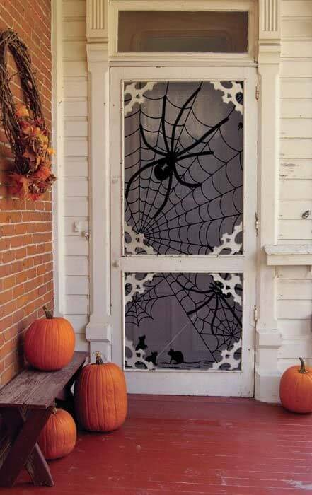 Halloween Door Decoration Ideas: Spider Web It!