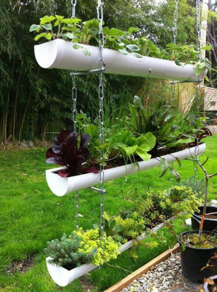 Inexpensive PVC Pipe Hanging Vegetable Garden | DIY Outdoor Hanging Planter Ideas | Plant Pot Design Ideas