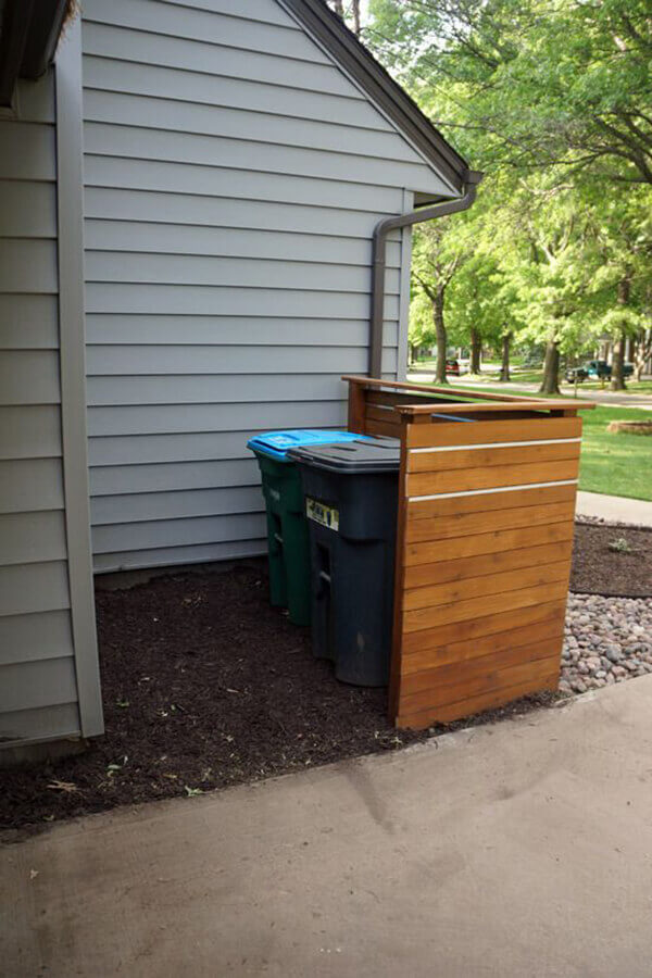 Basic Cedar Screen For Hiding Bins | Outdoor Eyesore Hiding Ideas