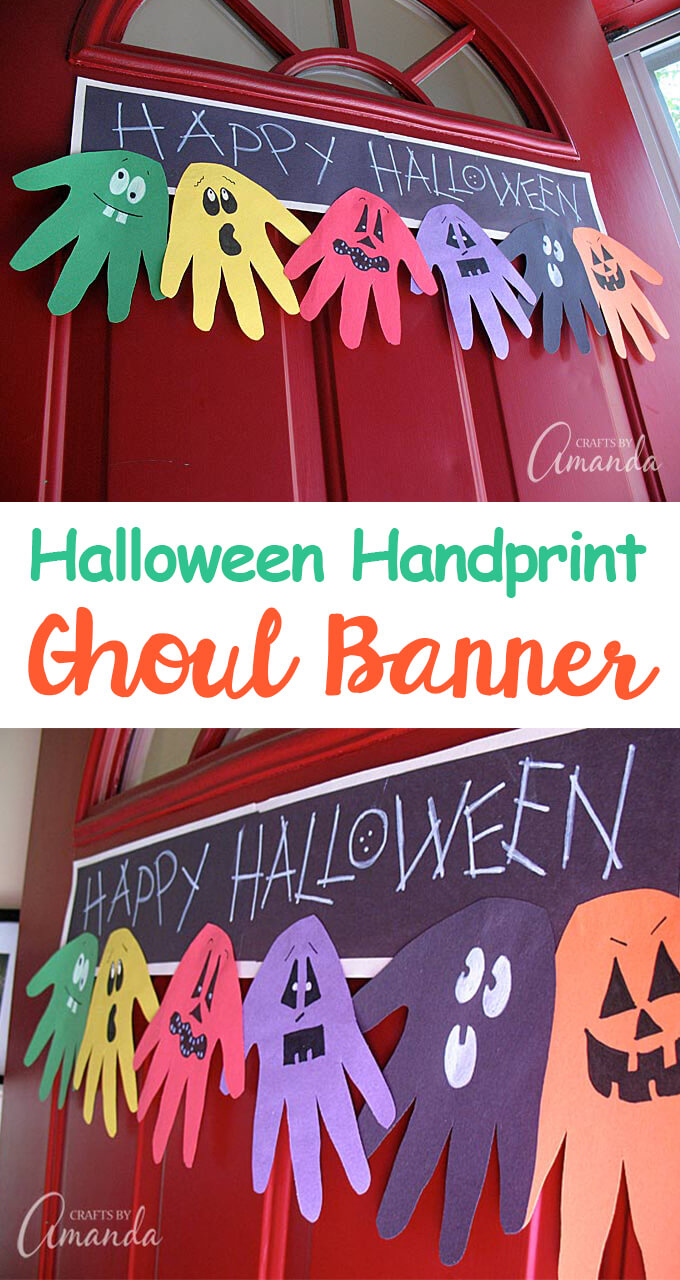 Hand Print Halloween Banner | Fun & Creative DIY Halloween Crafts for Kids