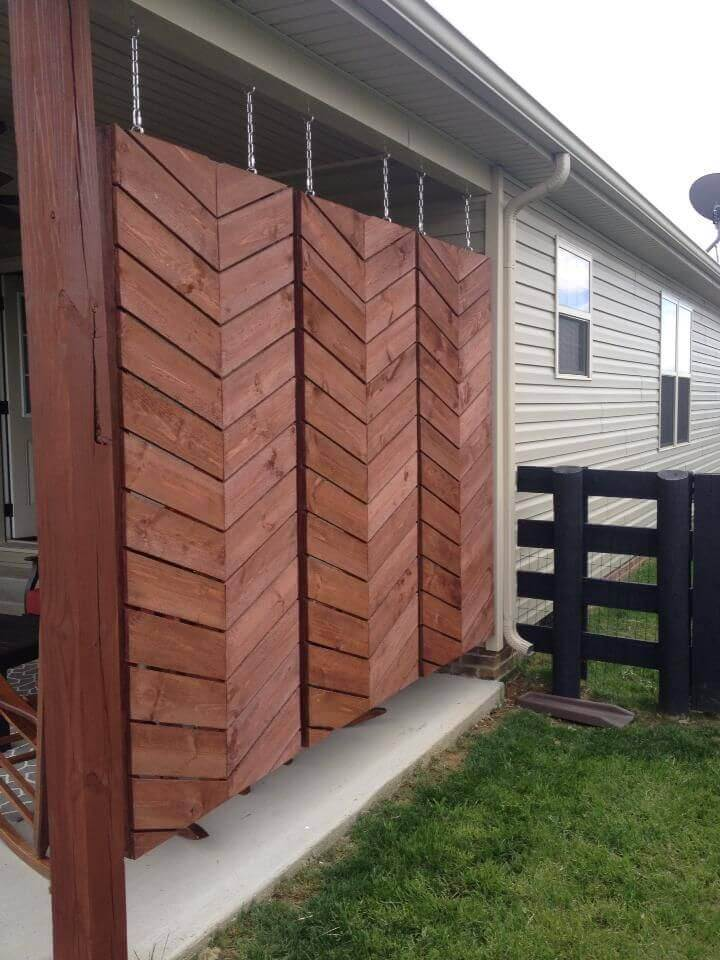 Hanging Wooden Screens For Back Patio Privacy | Outdoor Eyesore Hiding Ideas