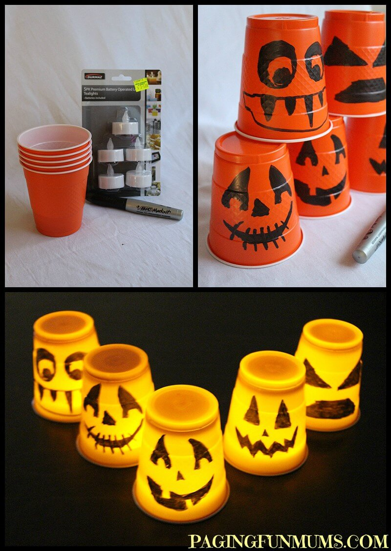 Orange Solo Cup – I Love You | Awesome DIY Halloween Party Decor | BHG Halloween